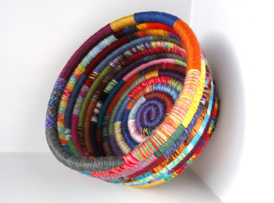 Yarn Coil Baskets - riverside art